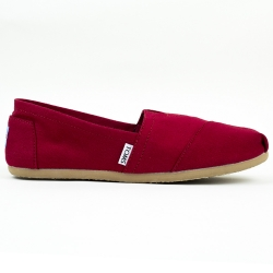 Damskie Toms Red Canvas
